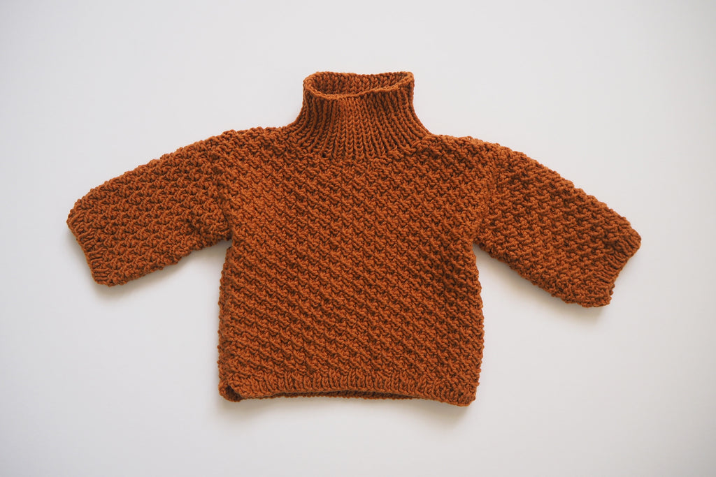 'Hansel' jumper - Burnt Caramel - MADE TO ORDER - 2y In stock