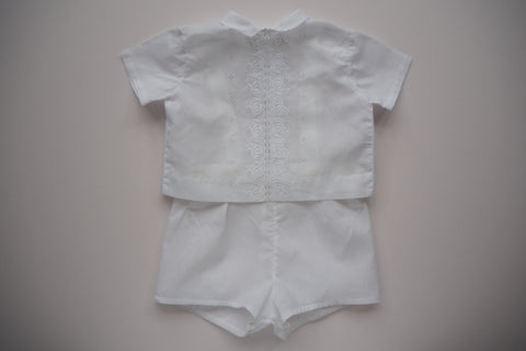 White flowers Set - 3/6 months