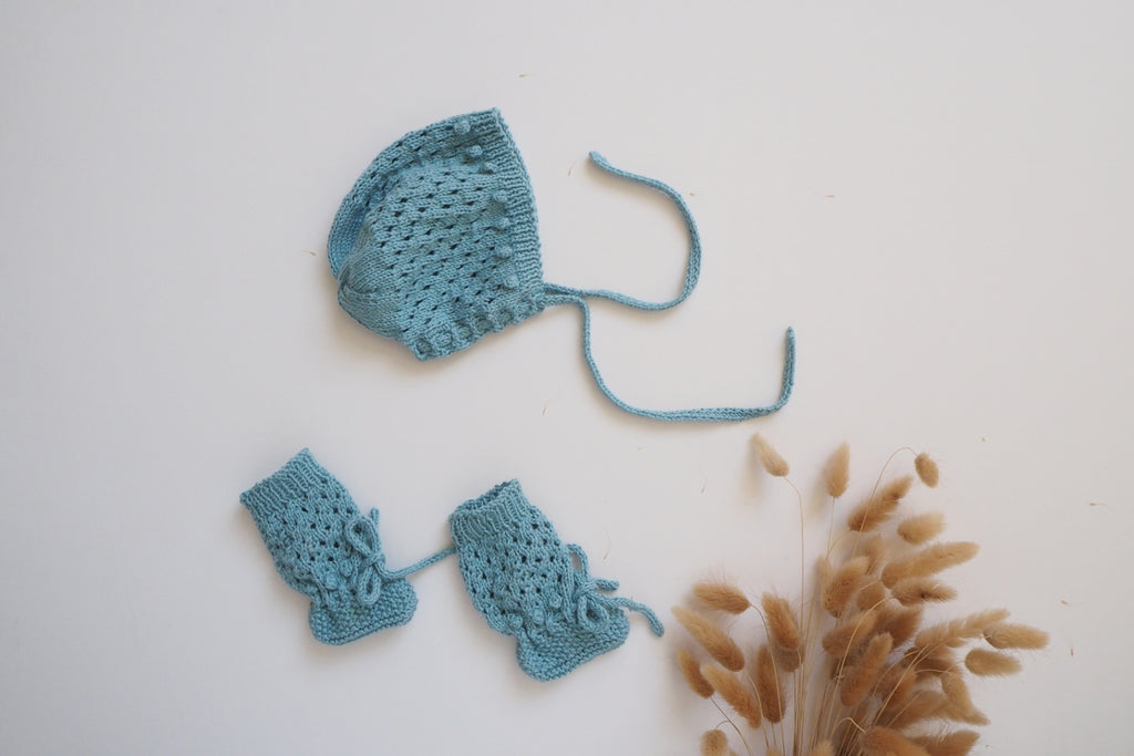 Bonnet & Booties Set - Grand Bleu - 0/3m