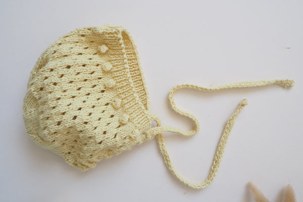 Bonnet & Booties Set - Honey - 0/3m