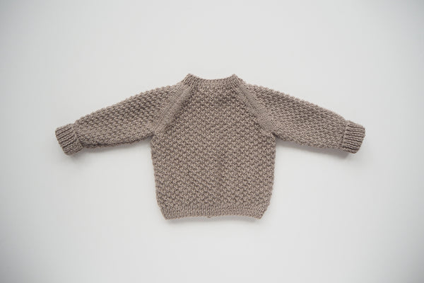 'Simone' Cardigan - Stone - Newborn to 12m - Made to order up to 3y