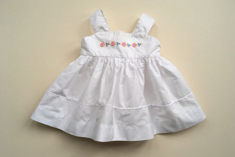 flowers dress 1950's baby vintage France