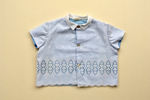 Blue bouse with lace - 18m/2Y - 50% off