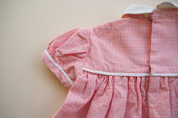 Pink and white gingham dress - 18m