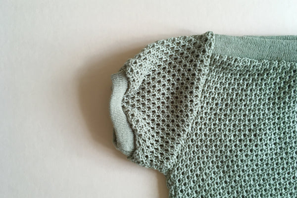 Green knitted top - 6/12m