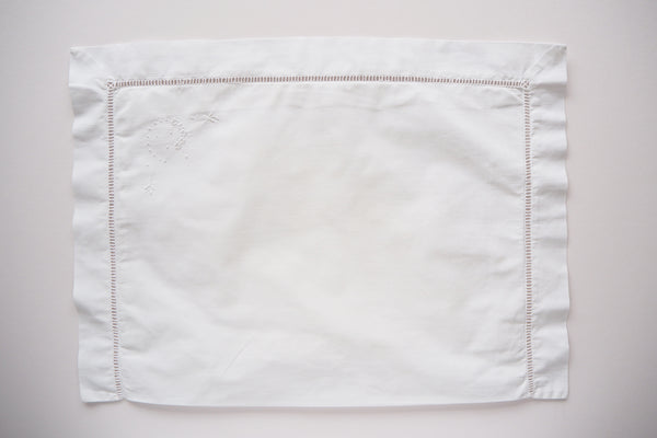 Pillow case with embroidery