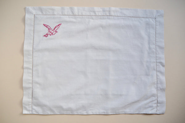 Pillow case with a bird