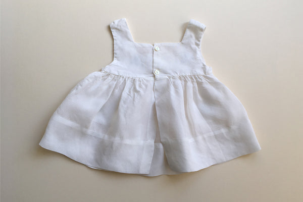 White pinafore dress - 0-3m