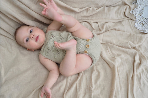 'Suzon' Romper - Sage - 0-6m to 18m-2y