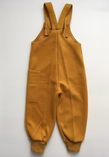 70's Yellow overall - 1 to 2y