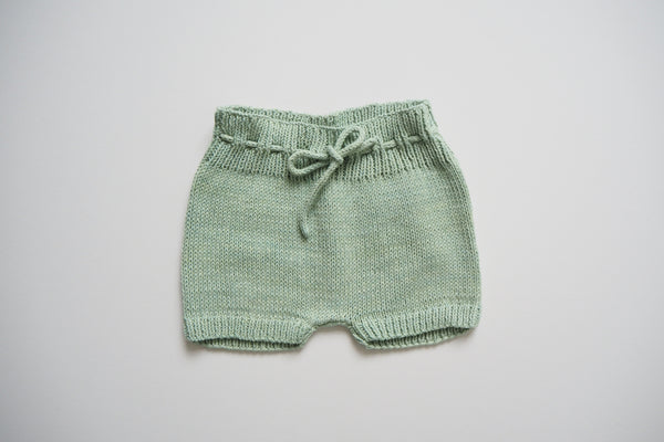 Shorts- 100% Organic Cotton dyed with plants - Fig Leaves - 0/1m to 2/3y - 50%off
