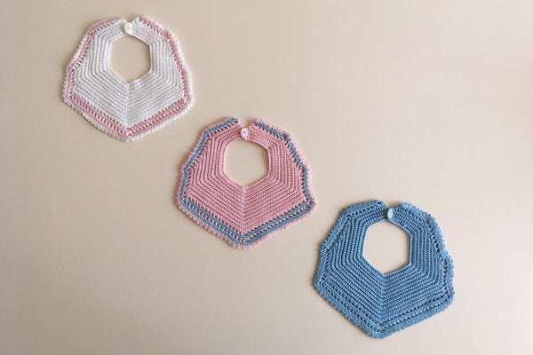 Hand crocheted collars - 0-3m to 3-6m - 50% off