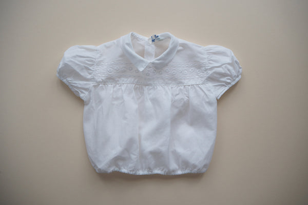 White blouse with openwork and embroidery - 18m