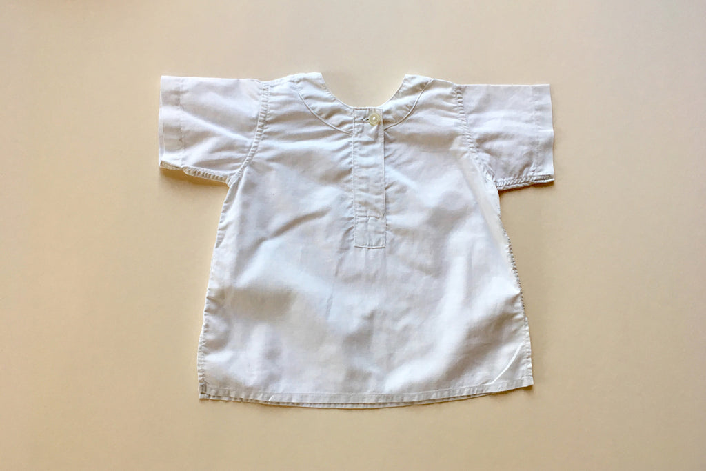 white tunic vintage baby Marlon and little friends france