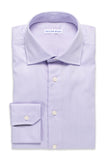 Solid Color Shirt - Round Spread Collar- Light Purple