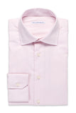Solid Color Shirt - Round Spread Collar- Light Pink