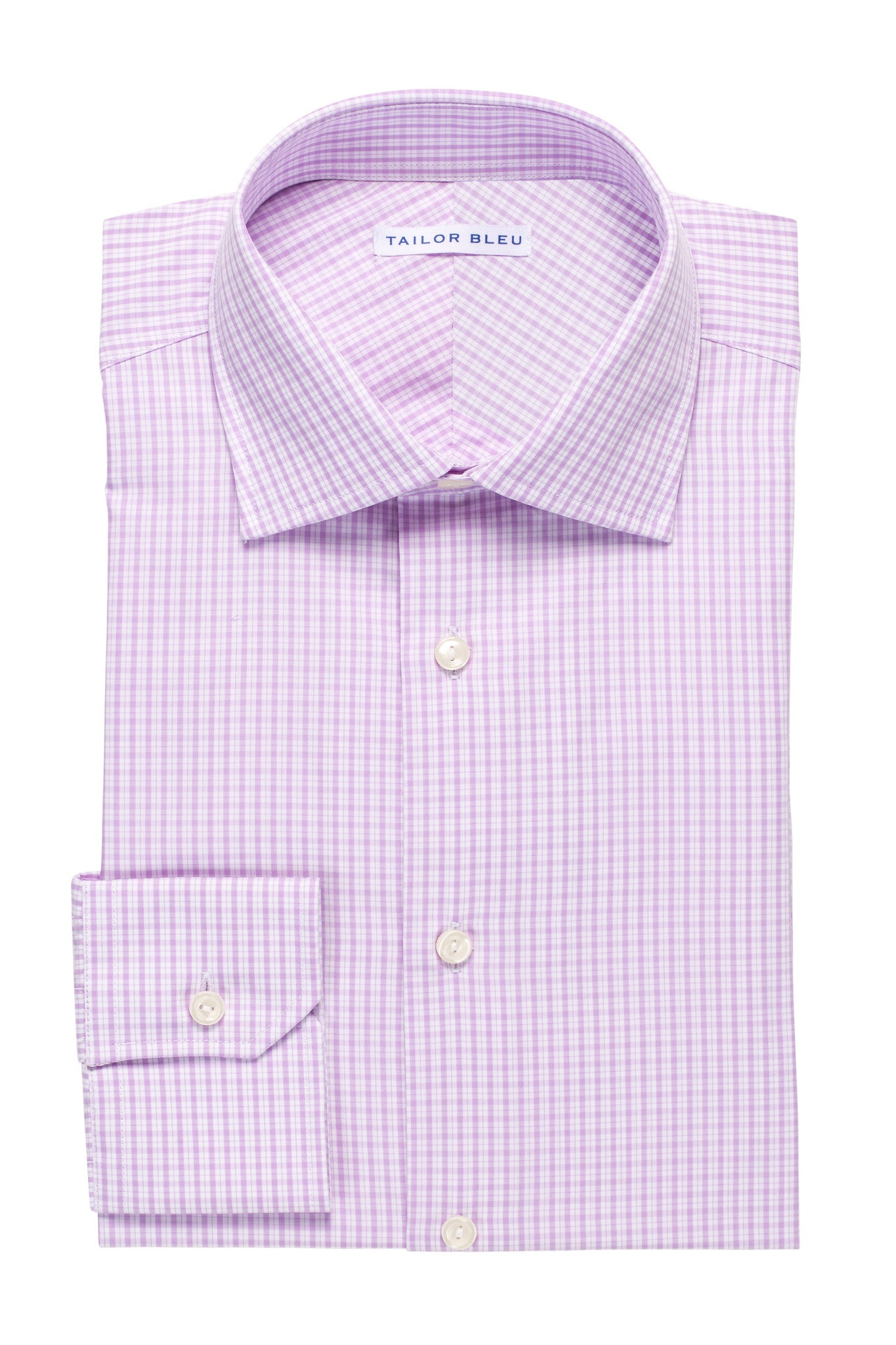 Mini-Plaid Shirt - Round Spread Collar