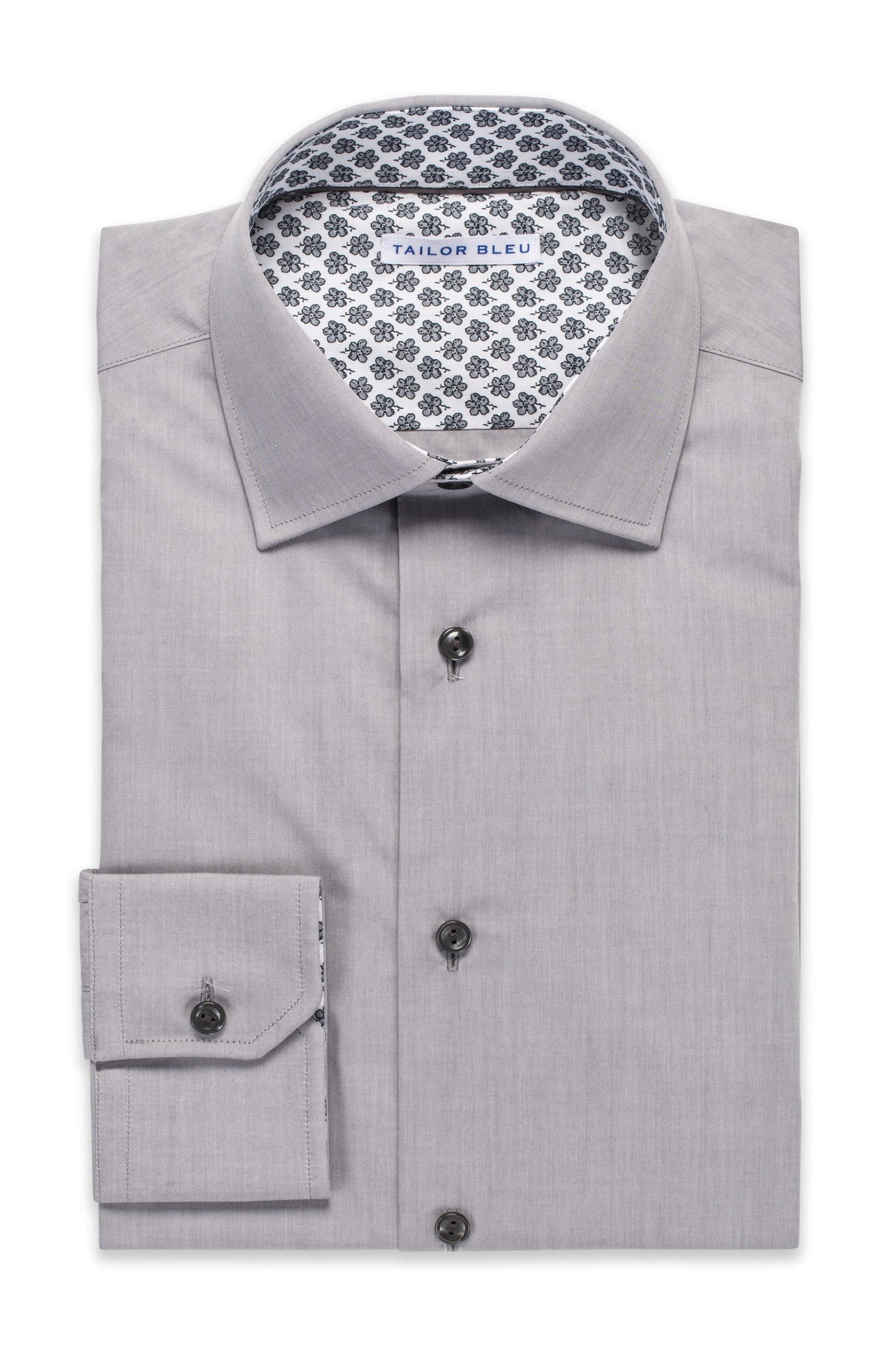 Linen-Look Shirt - Spread Collar