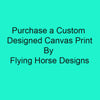 "Custom Canvas Print 20""X16""x3/4"" With Back Float Frame"