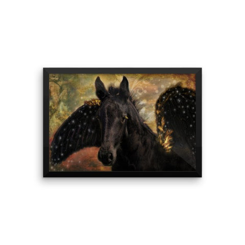 Flying Horse Framed Poster