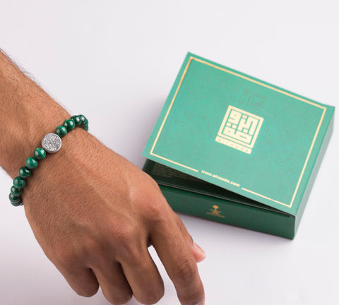 إسوارة عين النمر أخضر 1 - Bracelet Tiger Eye Green 1