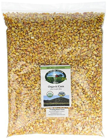 Flowing River Farm - Non-GMO Organic Corn ~Shelled ~ USDA Certified Organic