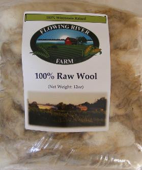 Flowing River Farm - Sheep Wool - 100% Raw