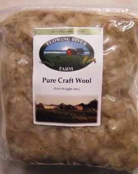 Flowing River Farm - Sheep Wool - Pure Craft - 6oz
