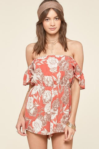 Amuse Society - Kiss & Tell Romper - Burnt Sienna | Almasty Outdoor Co.