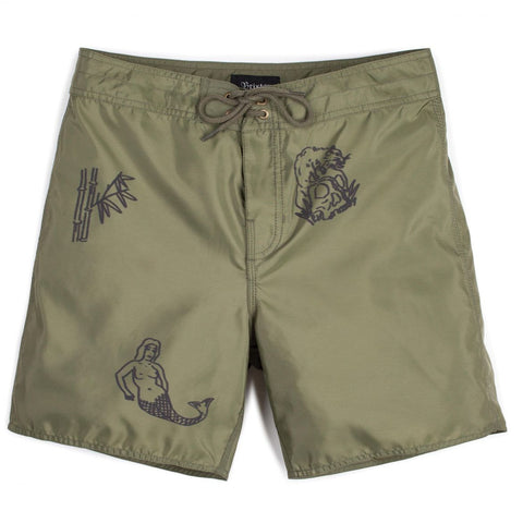 "Brixton - Men's Bering Trunk Swimwear - Olive/Black | Maillot pour hommes ""Bering"" - Noir/Olive 