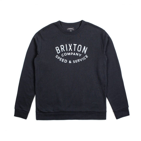 Brixton - Gasket Crew Fleece - Black | Almasty Outdoor Co.