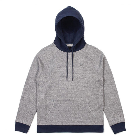 Brixton - Huron Hood Fleece - Heather Grey/Navy | Almasty Outdoor Co.