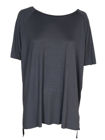 Mink Pink Oversize Raglan Tee - Charcoal | Almasty Outdoor Co.