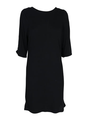 Mink Pink Cold Shoulder Rib Dress - Black | Almasty Outdoor Co.