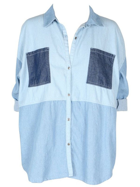 Mink Pink Soul Patch Denim Shirt | Almasty Outdoor Co.
