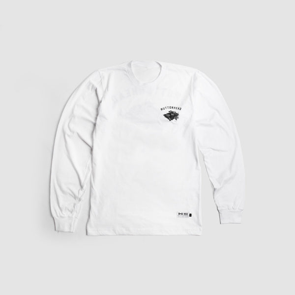 Stray Mutt  L/S T-Shirt - White | T-shirt manches longues Stray Mutt - Blanc - Almasty Outdoor Co.