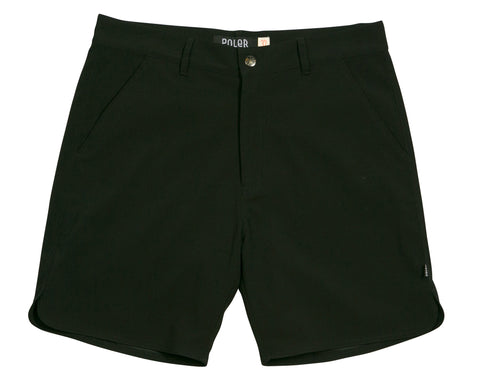 Poler Stuff - Men's River Chino Shorts - Black | Shorts River Chino pour hommes - Noir | Almasty Outdoor Co.