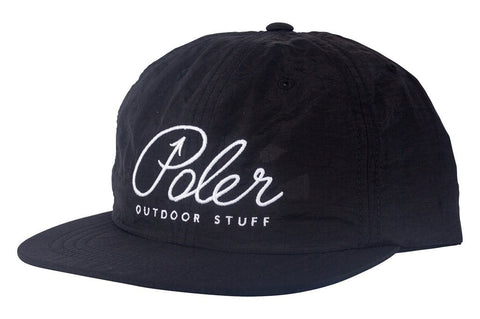 Poler Stuff Script Nylon Floppy Hat - Black |  Almasty Outdoor Co.
