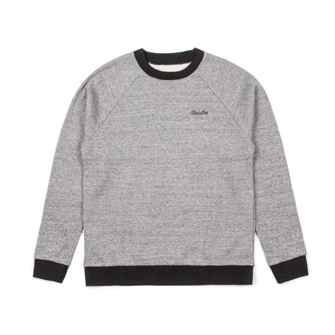 Brixton - Trevor Crew Fleece - Heather Grey/Black | Almasty Outdoor Co.