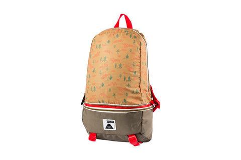 Tourist Pack Bag - Almond Forestry print  | Sac Tourist Pack - Amande imprimé forestier - Almasty Outdoor Co.