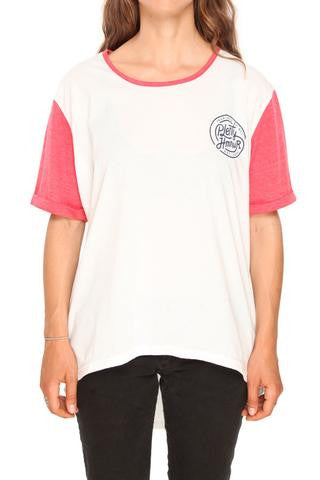 "Plenty - Peter's Tall Tee - White/Red HTR | T-Shirt ''Peter's tall tee"" - Blanc/Rouge 
