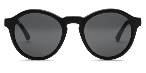 "Reprise Unisex Sunglasses - Gloss Black/OHM Grey | Lunettes unisexe ""Reprise"" - OHM Gris/Noir Lustré - Almasty Outdoor Co."