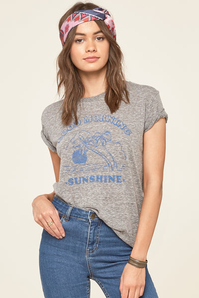 Amuse Society Good Morning Tee - Drak Heather Grey | Almasty Outdoor Co.