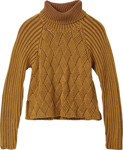 "Women's Mate Check Knit - Bronze Amber | Tricot pour femmes ""Mate Check"" - Moutarde - Almasty Outdoor Co."