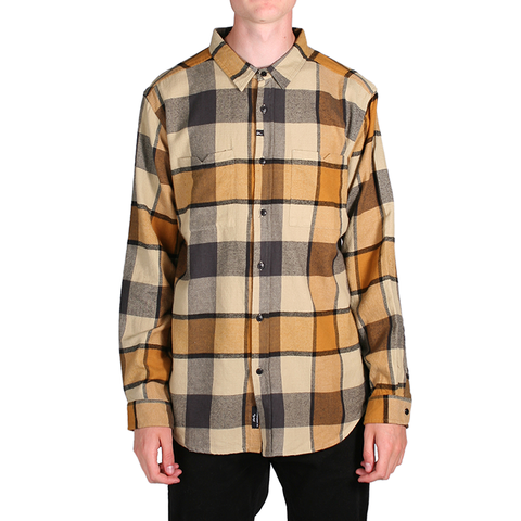 "Men's Source Hansen L/S Flannel - Gold | Flannel pour hommes ""Hansen"" - Or - Almasty Outdoor Co."