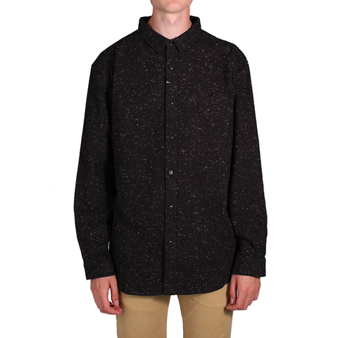 "Men's Source Flec L/S Flannel - Balck | Flannel pour hommes ""Source Flec"" - Noir - Almasty Outdoor Co."