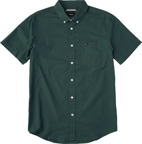 "Men's That'll Do Oxford  S/S Wovens Shirt - Sequoia Green | Chemise à manches courtes pour hommes ""That'll Do Oxford""  - Vert"