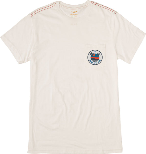 RVCA Men's Island Pocket T-Shirt - Antique White | Almasty Outdoor Co.