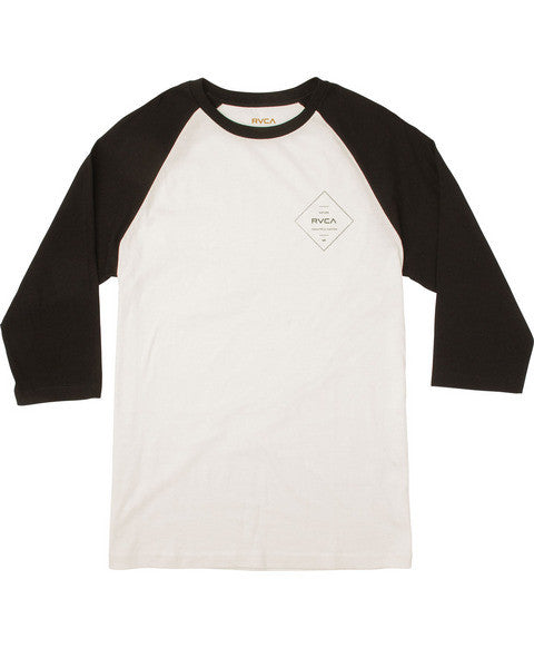 RVCA Press RVCA Raglan T-Shirt - Antique White | Almasty Outdoor Co.