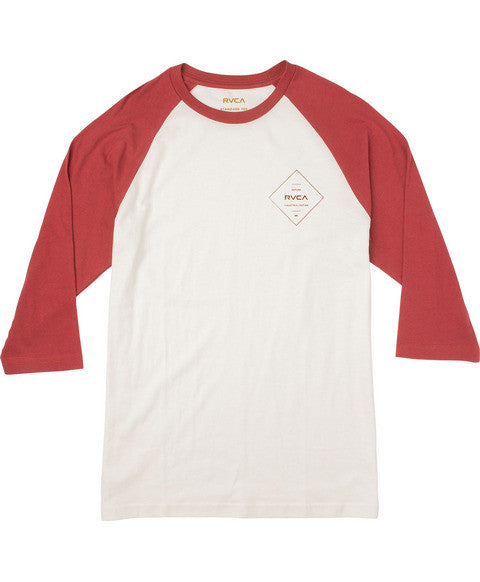 RVCA Press RVCA Raglan T-Shirt - Rosewood | Almasty Outdoor Co.